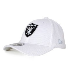 Boné New Era 39thirty Oakland Raiders Aba Curva Branco