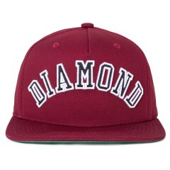 Boné Diamond Snapback Arch Bordô