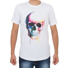 Camiseta Even Caveira Branca