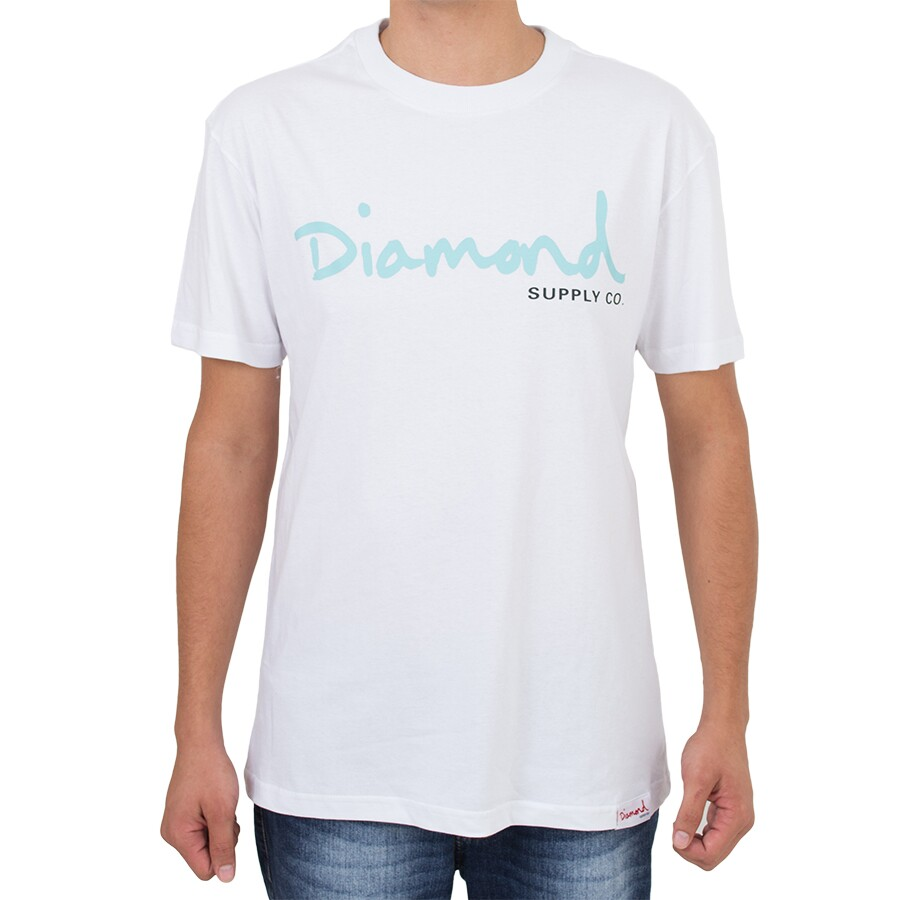 Camiseta Diamond Script Branca