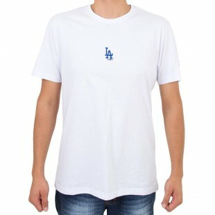 Camiseta New Era Los Angeles Dodgers Mini Logo Branca