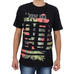 Camiseta New Era Flowers Preta
