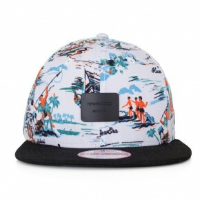 Boné New Era Snapback Crown Path Original Fit Branco