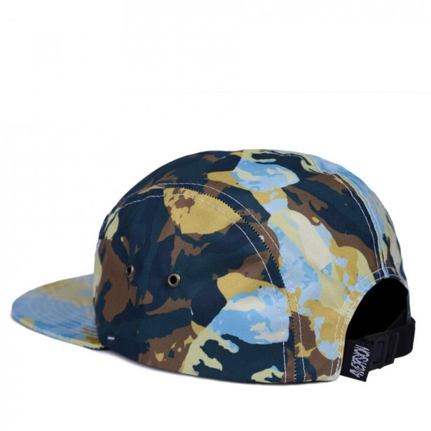 Boné Aversion Strapback Five Panel Paint Verde