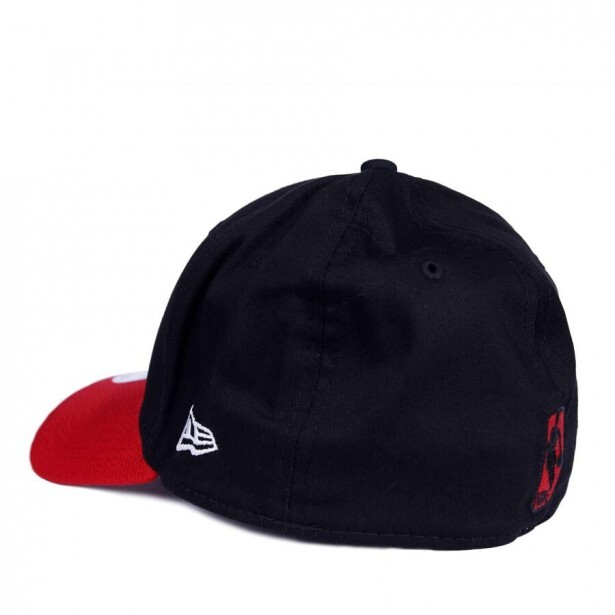Boné New Era 39Thirty Chicago Bulls Aba Curva Preto