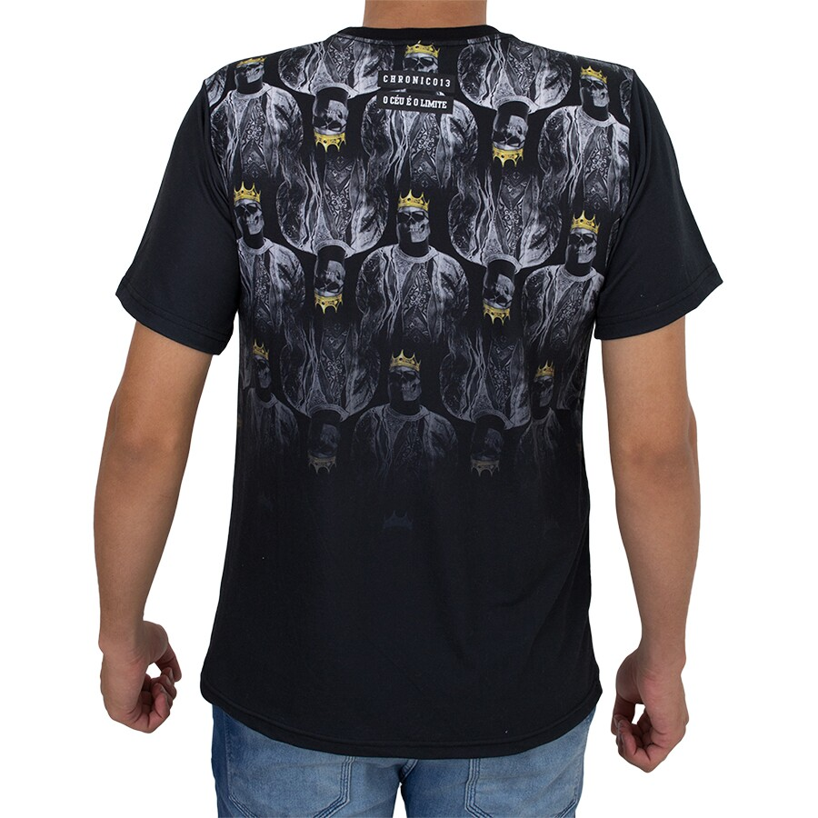 Camiseta Chronic Skull Crown Preta