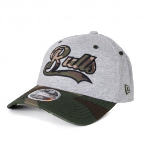 Boné New Era 39Thirty Chicago Bulls Aba Curva Cinza / Verde