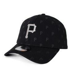 Boné New Era 39Thirty Pittsburgh Pirates Aba Curva Preto
