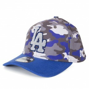 Boné New Era 39Thirty Los Angeles Dodgers Aba Curva Cinza / Marinho
