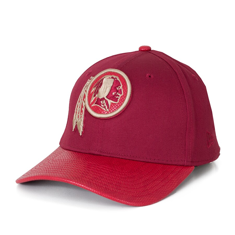 b558dfdd3f599 Boné New Era 39Thirty Washington Redskins Aba Couro Vinho - DEP ...