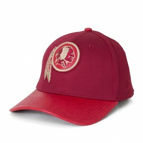 Boné New Era 39Thirty Washington Redskins Aba Couro Vinho