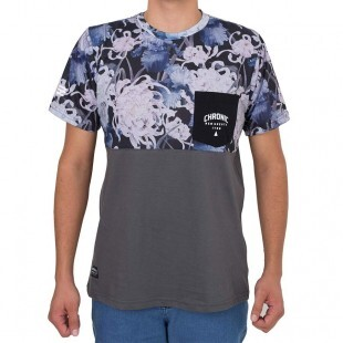 Camiseta Chronic Soft Flowers Cinza