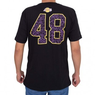 Camiseta New Era Los Angeles Lakers Preta