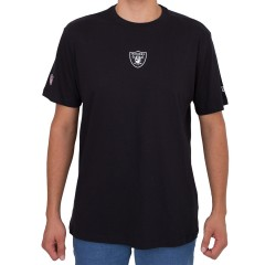 Camiseta New Era Oakland Raiders Mini Logo Preta