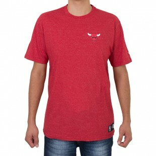Camiseta New Era Chicago Bulls Mini Logo Vermelha