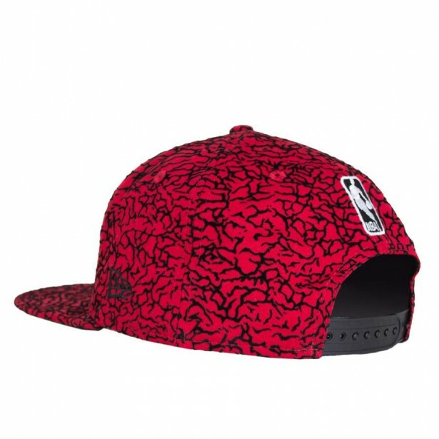 Boné New Era Snapback Brooklyn Nets Original Fit Vermelho