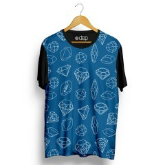 Camiseta Dep Diamantes Mini Azul