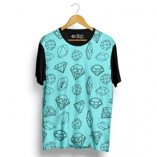 Camiseta Dep Diamantes Mini Azul Tiffany