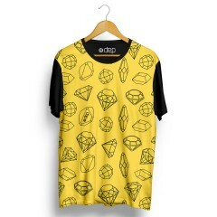 Camiseta Dep Diamantes Mini Amarelo