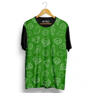 Camiseta Dep Diamantes Mini Verde