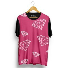 Camiseta Dep Diamantes Rosa