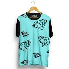 Camiseta Dep Diamantes Azul Tiffany