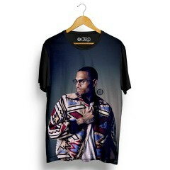 Camiseta Dep Chris Brown Glasses Preta