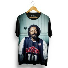 Camiseta Dep Snoop Dogg Usa Preta