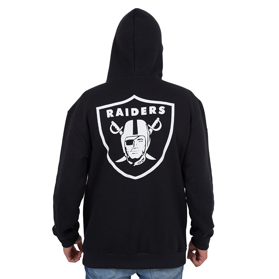 Moletom New Era Oakland Raiders Capuz Preto