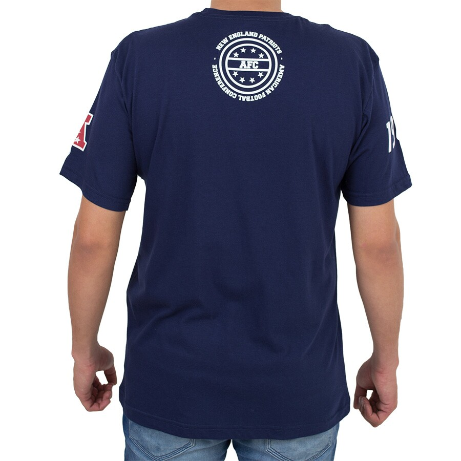 Camiseta New Era England Patriots Vertical Marinho