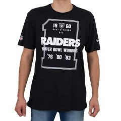 Camiseta New Era Oakland Raiders 1 Preta