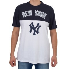 Camiseta New Era New York Yankees Branca / Marinho