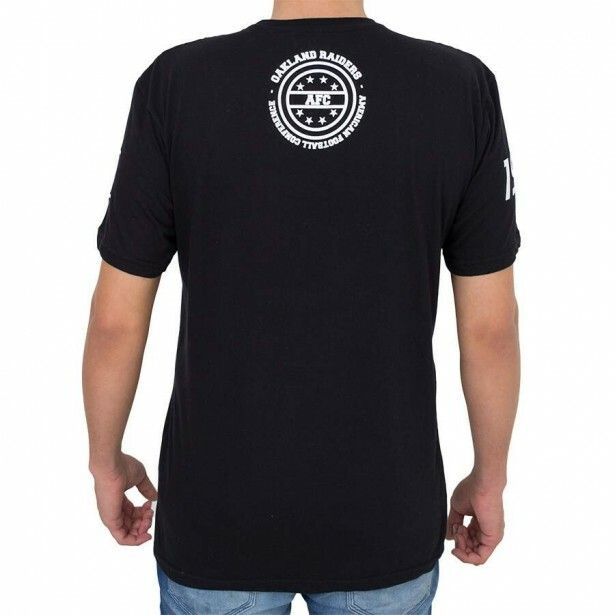 Camiseta New Era Oakland Raiders Vertical Preta