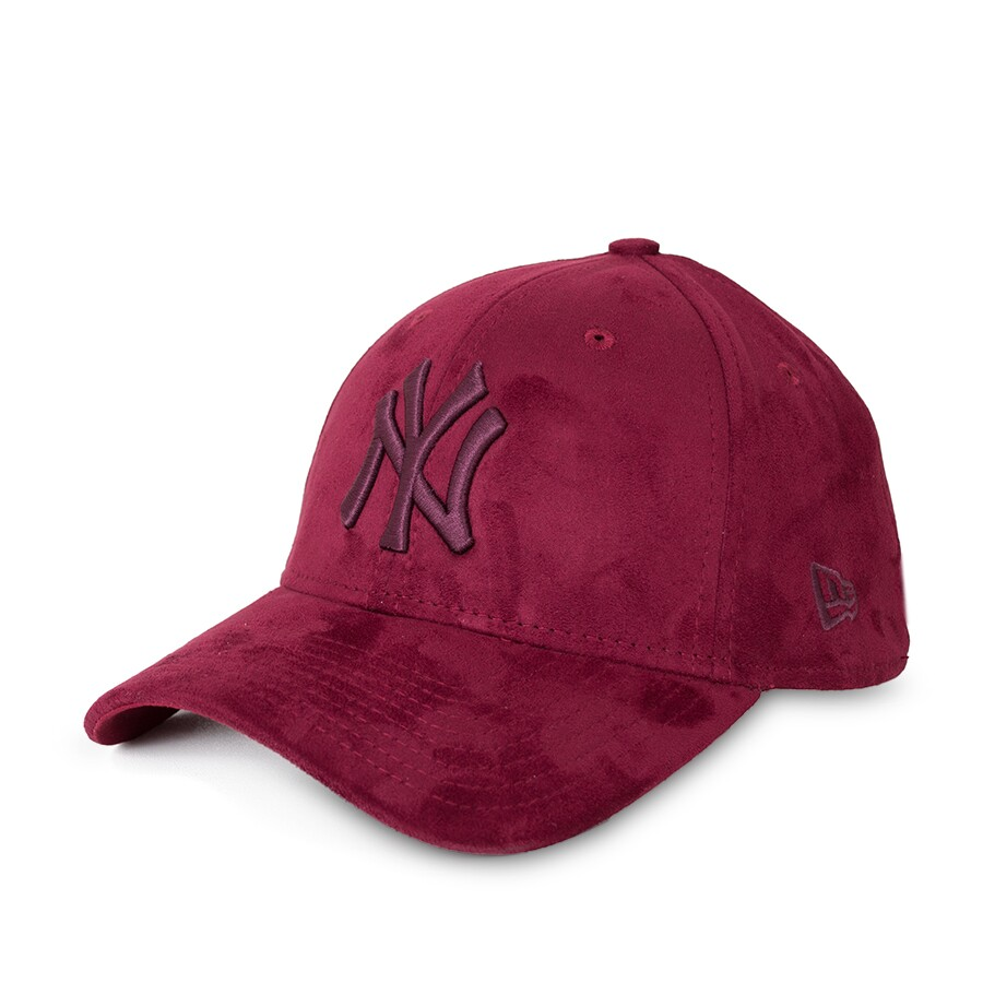 Boné New Era 39Thirty New York Yankees Aba Curva Vinho