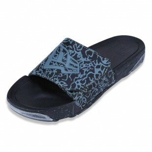 Chinelo New Era Slip-On Branded Preto / Cinza