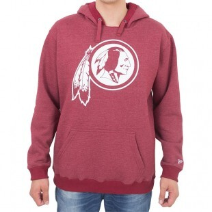 Moletom New Era Washington Redskins Bordô Capuz