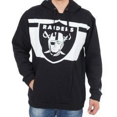 Moletom New Era Oaklanda Raiders Long Listras Capuz