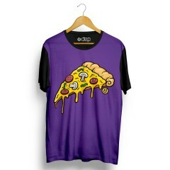 Camiseta Dep Pizza Roxa