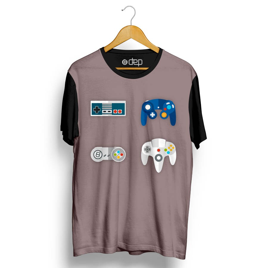 Camiseta Dep Controles de Vídeo Game Cinza