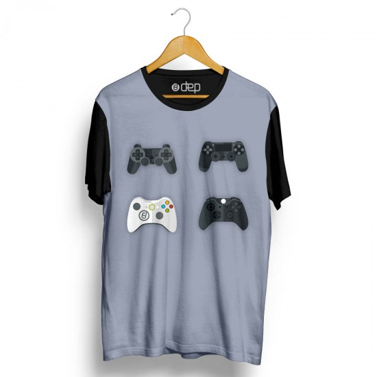 Camiseta Dep Controles de Vídeo Game 2 Cinza