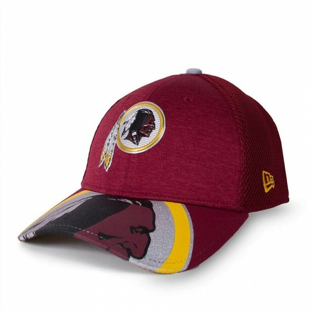 Boné New Era 39Thirty Washington Redskins Vinho
