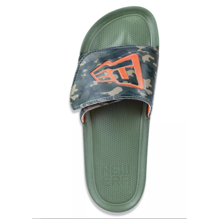 Chinelo New Era Slip-On Branded Camo Verde