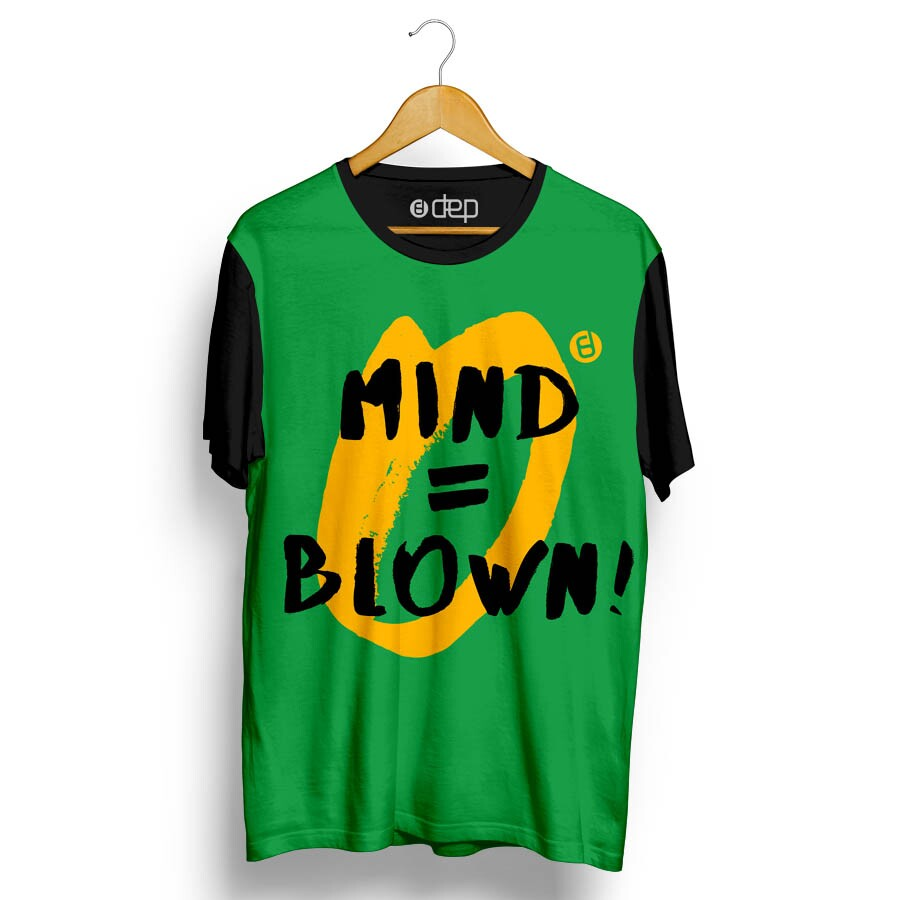 Camiseta Dep Mind = Blow Verde