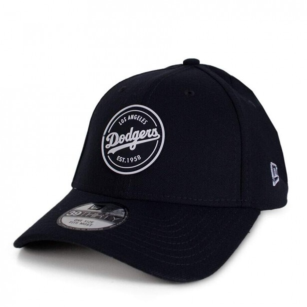 Boné New Era Los Angeles Dodgers 39Thirty Aba Curva Preto