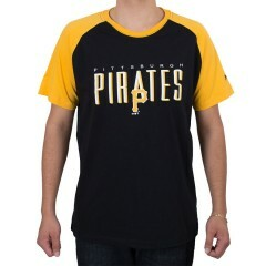 Camiseta New Era Pittsburgh Pirates Fresh Mark Preta / Amarela