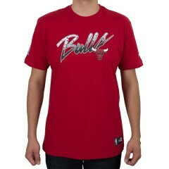 Camiseta New Era Chicago Bulls Craquela Vermelha
