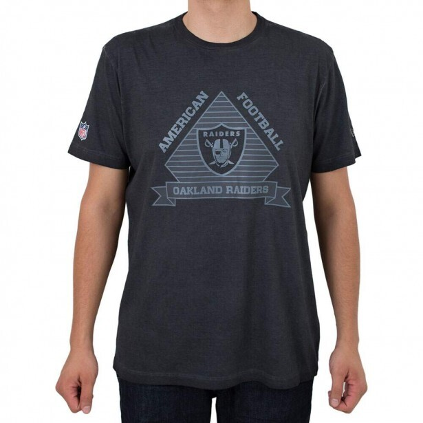 Camiseta New Era Oakland Raiders Marmorizada Preto