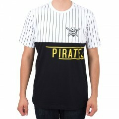 Camiseta New Era Pittsburgh Pirates Stripe Branca / Preta