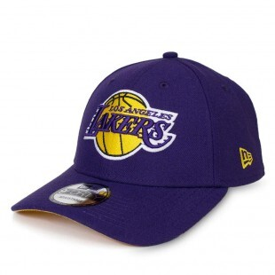 Boné New Era Snapback Los Angeles Lakers Aba Curva Roxo