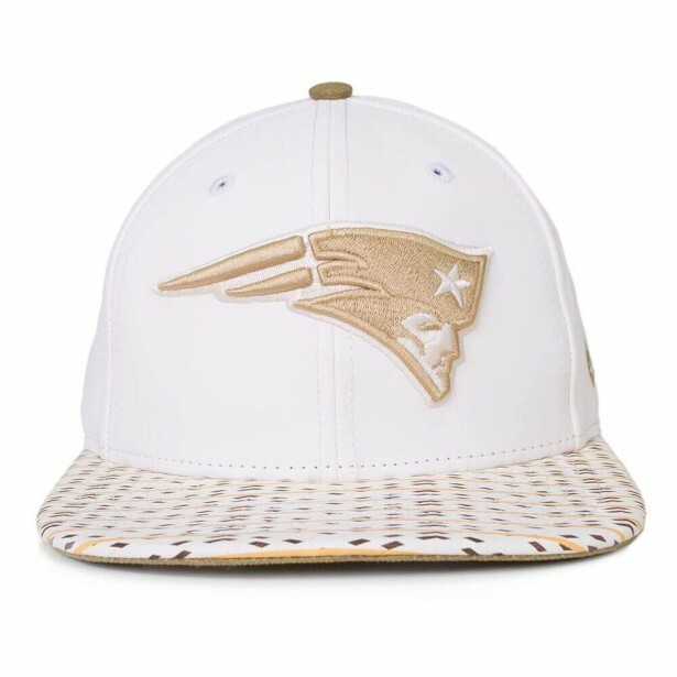Boné New Era Snapback England Patriots Original Fit Bege